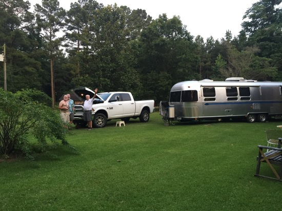 """Daddy's front lawn at his house in Decatur, MS. Daddy says, """"Howdy!"""""""